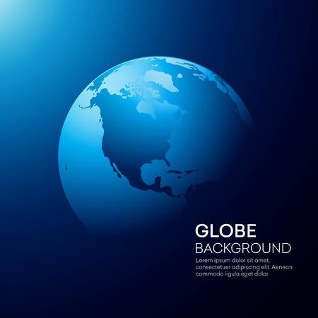 Modrý glóbus země pozadí. Vektorové ilustrace