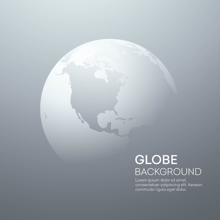 earth: Background with Planet Earth Globe. Vector Illustration