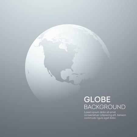 erde: Hintergrund mit Planet Earth Globe. Vector Illustration Illustration