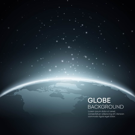 illustration vector: Background with Planet Earth Globe. Vector Illustration  Illustration