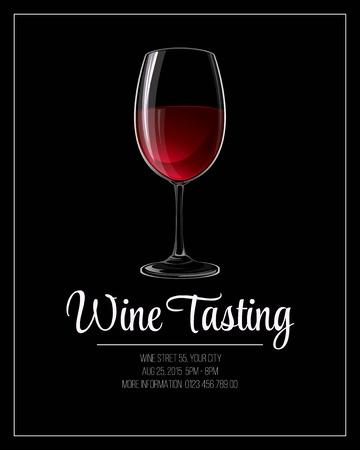 Wine tasting flyer template. Vector illustration EPS 10