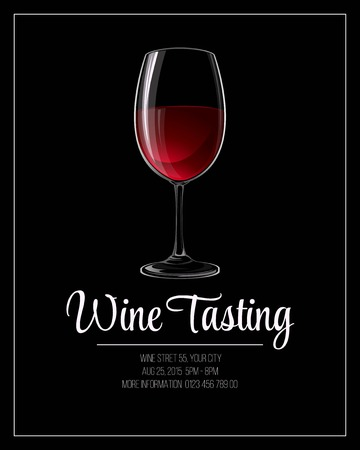 Wine tasting flyer template. Vector illustration EPS 10