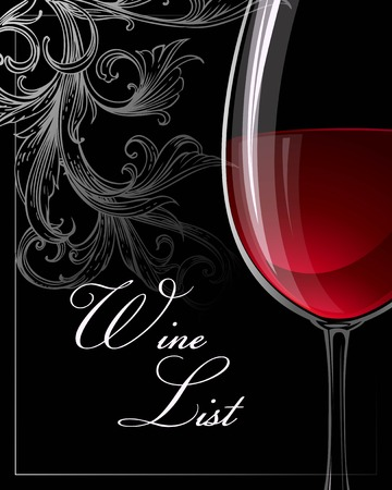 Template for wine list. Vector illustration EPS 10