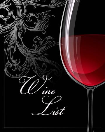 vidro: Molde para a carta de vinhos. Vetor do EPS 10