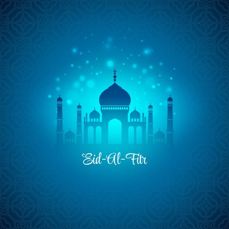 fitr: Eid Al Fitr. Eid Mubarak. Vector background EPS 10
