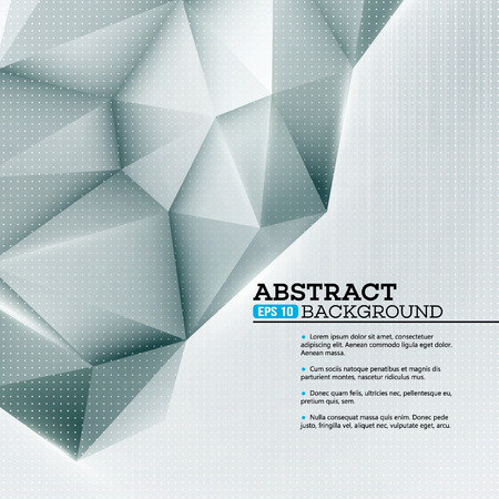 geometric lines: Low polygon geometry shape. Vector illustration