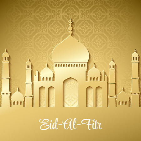 Eid Al Fitr. Eid Mubarak. Vector background EPS 10
