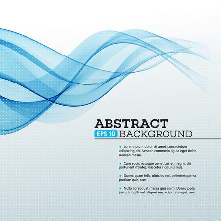 vague: Bleu Résumé vagues arrière-plan. Vector illustration EPS 10