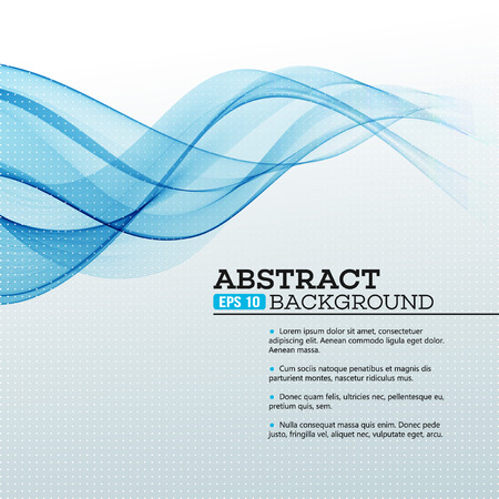 Blue Abstract waves background. Vector illustration EPS 10 Ilustração
