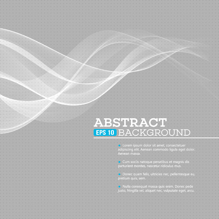 grey: Vector gray wave abstract background EPS 10 Illustration