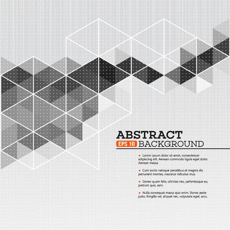 triangulo: Fondo del modelo abstracto con formas triangulares EPS 10