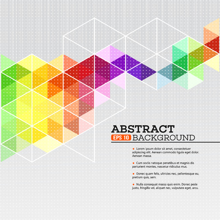 Color geometric background with triangles. Vector illustration EPS 10