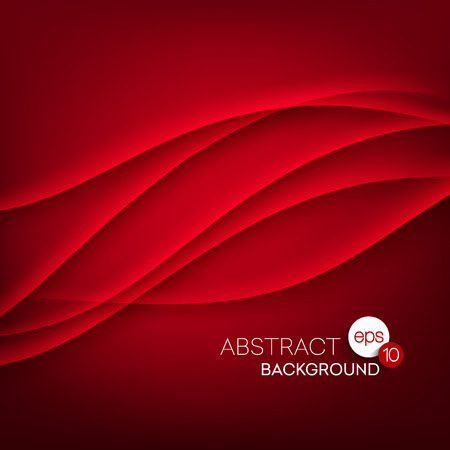 Red vector Template Abstract background with curves lines. EPS 10