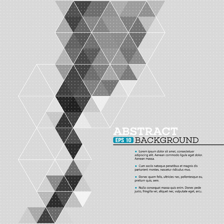 Abstracte malplaatjeachtergrond met driehoeksvormen EPS 10 Stock Illustratie