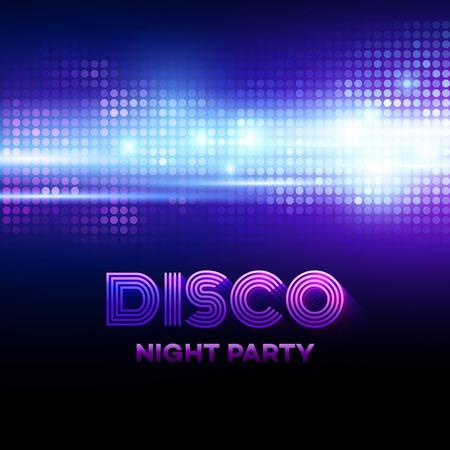 Disco Hintergrund mit discoball. Vektor-Illustration Vektorgrafik