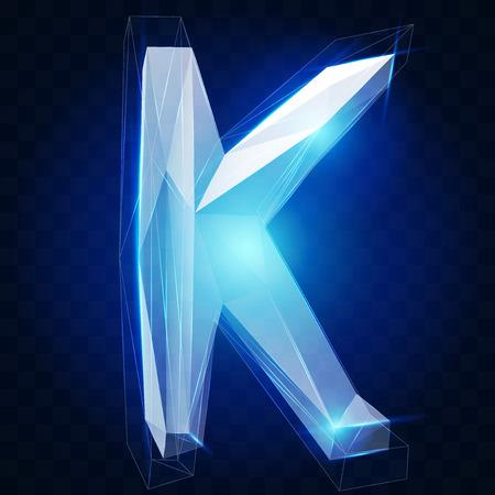 ice alphabet: Crystal ice alphabet Illustration