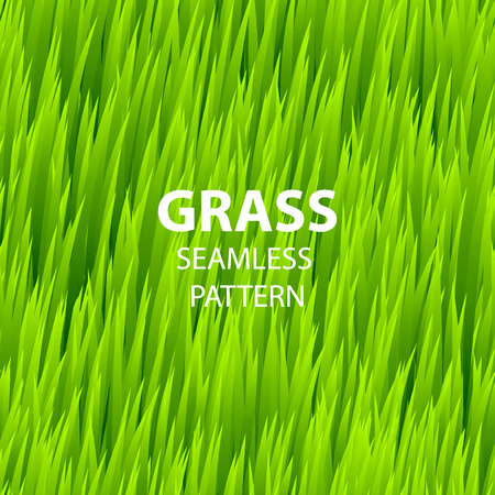grounds: Green grass seamless pattern