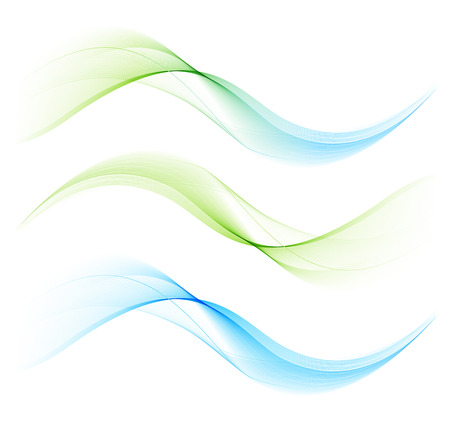 curved lines: Abstract color curved lines background Illustration