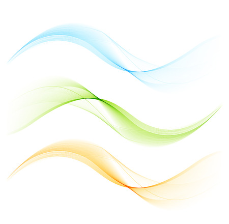 lines abstract: Abstract color curved lines background Illustration