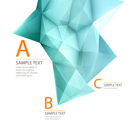 3d triangle: 3D triangle geometric background Illustration