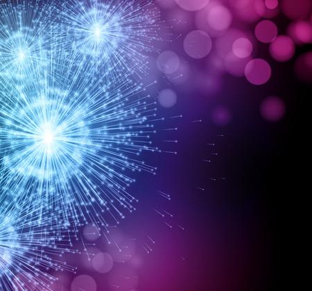 Vier partij sparkler vuurwerk