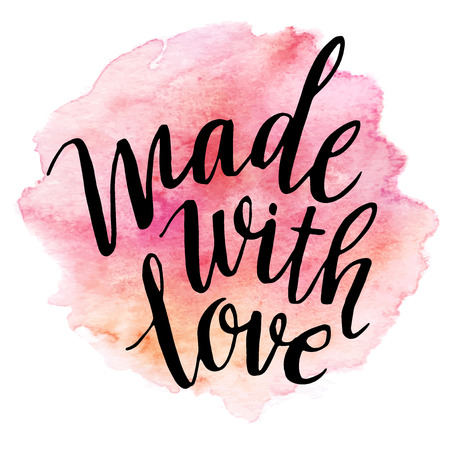 love: Made with love watercolor lettering
