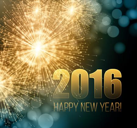 bengal light: 2016 New Year made a sparkler Illustration