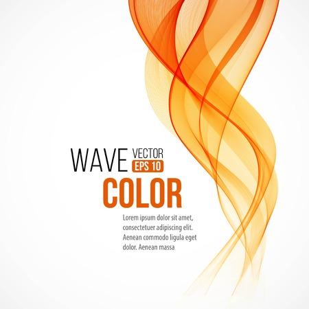 Abstract arange wave design element Vectores