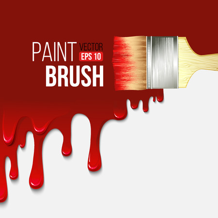 Paintbrushes with dripping paint