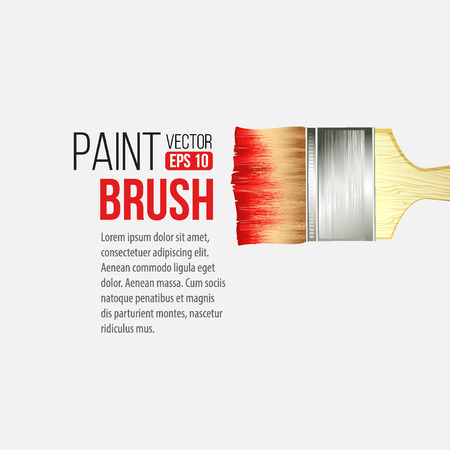 wordings: Paint Brushes isolated on white with wordings