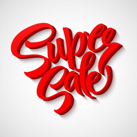 super: Super sale tag banner