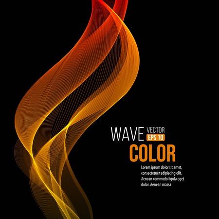 orange wave light background Illustration