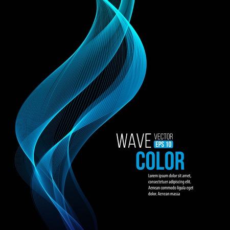 Blue light wave background