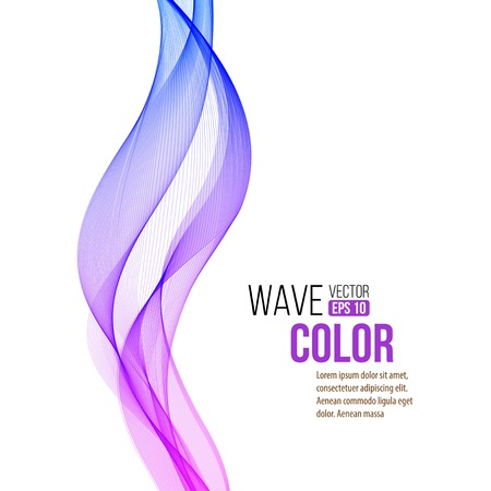 white wallpaper: Abstract color curved lines background Illustration