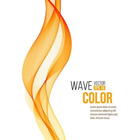orange wave design element