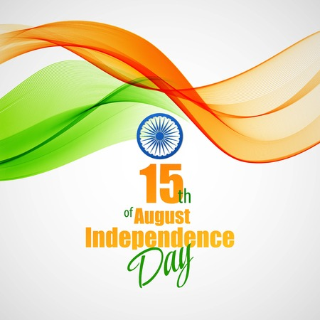 Creative Indian Independence Day concept Ilustrace
