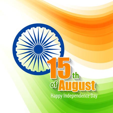 bandera de la india: Creativo concepto de D�a de la Independencia de la India