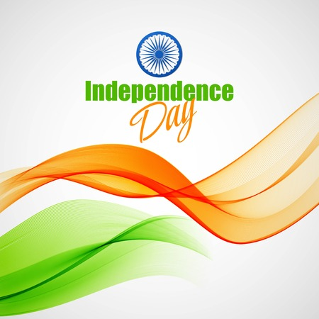Creative Indian Independence Day concept 向量圖像