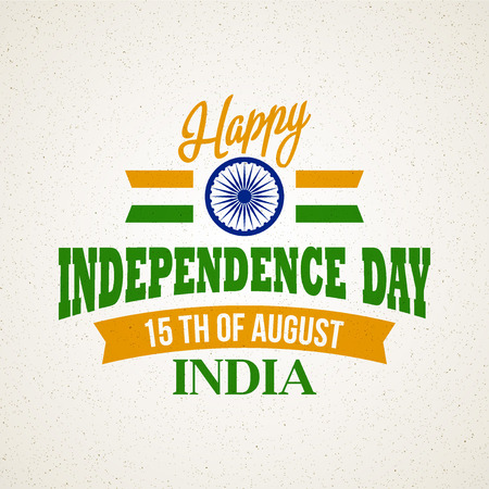independencia: Creative Indian Independence Day concept Vectores