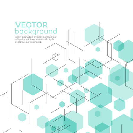 medical abstract: Abstract background with hexagons