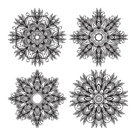 decorative elements: Ethnic decorative elements - Mandala Illustration