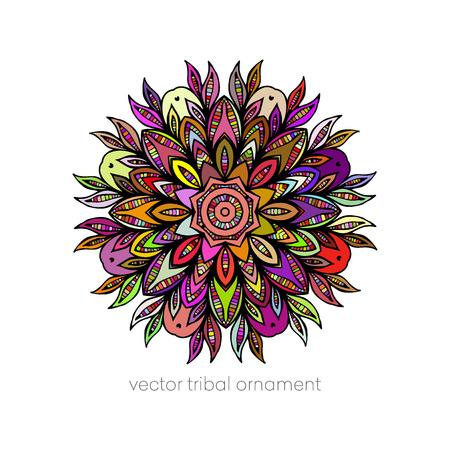 circulo de personas: Ethnic decorative elements - Mandala Vectores