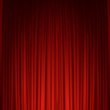 teatro: Teatro escenario con tel�n rojo