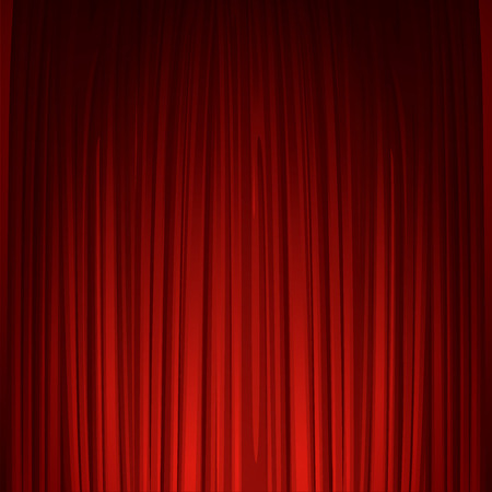 theatre: Theater stage with red curtain