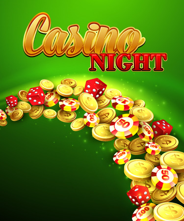 casinos: Casino night Illustration with roulette