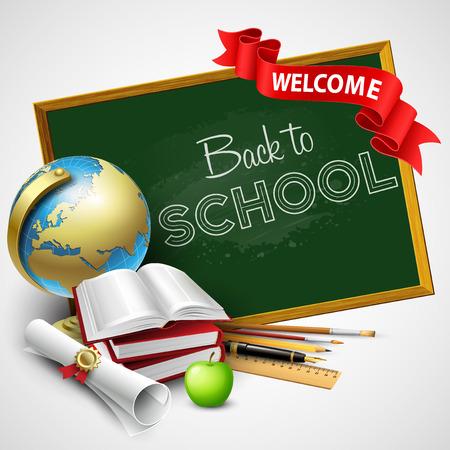 Retour au fond de l'école. Vector illustration EPS 10 Banque d'images - 42812342