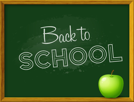 white back: Welcome back to school  background. Vector illustration