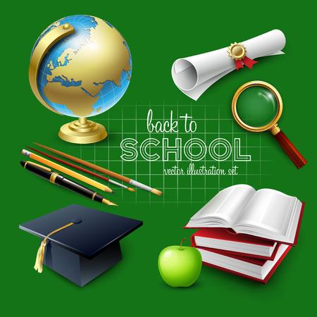 school illustration: Welcome back to school. Vector illustration