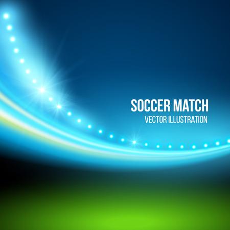 campeonato de futbol: Partido de fútbol, ??estadio. Ilustración vectorial Vectores