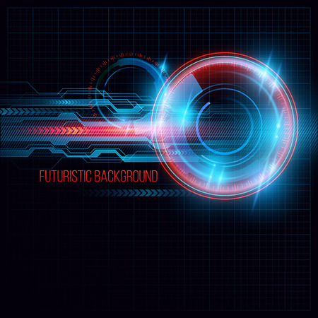 Abstract  HUD futuristic background. Vector illustration  Vettoriali